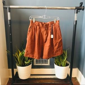 Pants - Burnt Orange 90s Vintage Shorts